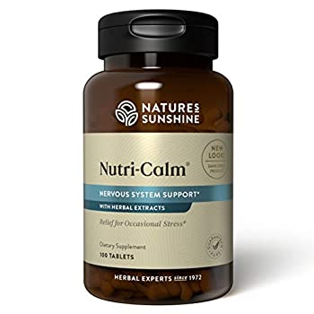 Nature s Sunshine Nutri-Calm 100 Tablets   Natural Anxiety Supplement to Promote Peace of Mind and Cope with Occasional Stress
