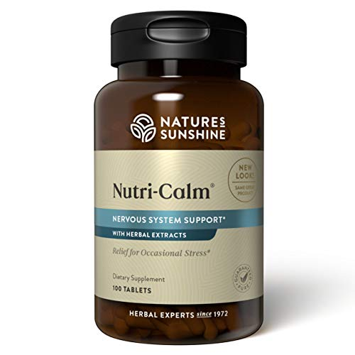 Nature's Sunshine Nutri-Calm, 100 Tablets   Natural Anxiety Supplement to Promote Peace of Mind and Cope with Occasional Stress