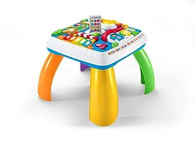 Fisher-Price Mesa multiaprendizaje bilingüe, mesa actividades bebé +6 meses (Mattel DRH34)
