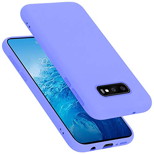 Cadorabo Custodia per Samsung Galaxy S10e in LIQUID LILA CHIARO - Morbida Cover Protettiva Sottile di Silicone TPU con Bordo Protezione - Ultra Slim Case Antiurto Gel Back Bumper Guscio