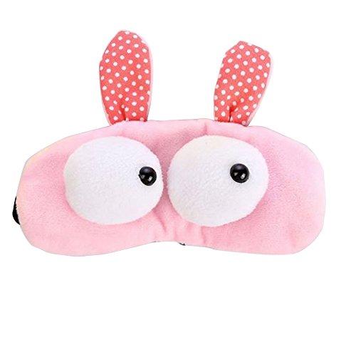 Haodou 1 Stück Augenmaske Süße Schlafmasken Schatten Schlaf Beihilfen Augenmaske Für tiefen Schlaf und Optimale Erholung,20*7.5cm (Rosa)