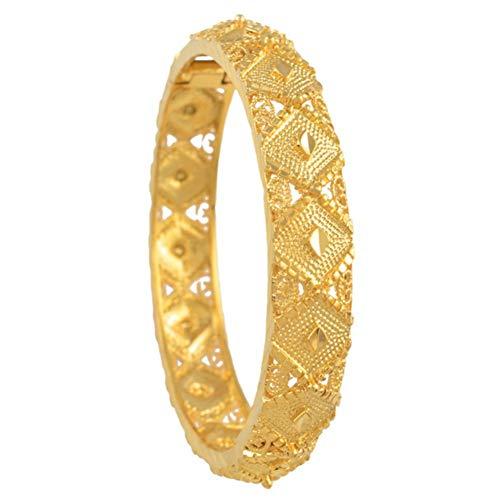 HUSHOUZHUO Äthiopischen Armreif Damenmode Goldfarbe Dubai Braut Hochzeitsgeschenk Afrikanischen Armband Arabischen Schmuck