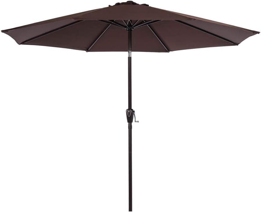 Sundale Outdoor 9 Feet Aluminum w Table Houston Max 57% OFF Mall Umbrella Market
