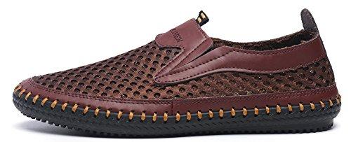 Mohem Men's Poseidon Slip-On Loafers Walking Shoes Casual Sandal Fashion Sneakers(3177coffee45)
