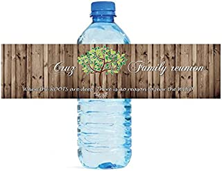 personalized family reunion water bottle labels