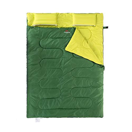 CATRP-Sac de couchage Détachable Double People Tente De Camping en Plein Air 4 Saisons Coton Adulte (Color : Gray)