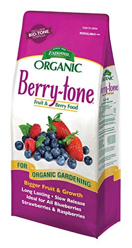 Espoma Berry-Tone Plant Food, Natural & Organic Fertilizer for All Berries, 4 lb, Pack of 2