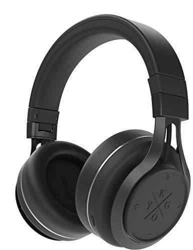 Kygo A9/600 Wireless Over-Ear Kopfhörer (Bluetooth Kopfhörer mit integrierter Touchbedienung, Mikrofon und NFC-Funktion, 23 Stunden Akkulaufzeit) Schwarz
