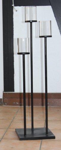 TLW direkt Landhausstil Kerzenständer Kerzenleuchter rustikaler 3 Armiger Kerzenhalter Deko Leuchter 100 cm Höhe