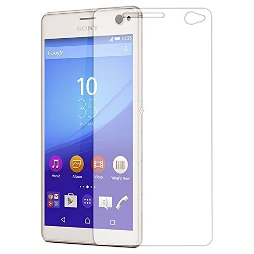 Phonicz Retails 9H Hardness Crystal Clear Clarity Edge to Edge Fitting Flexible Tempered Glass for Sony-Xperia-C4 (transparent)