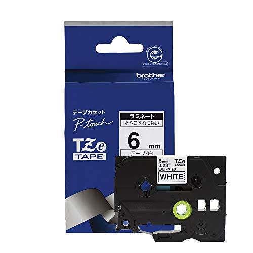 ピータッチ ラミネートテープ 白ラベル TZe-211 [黒文字 6mm×8m]