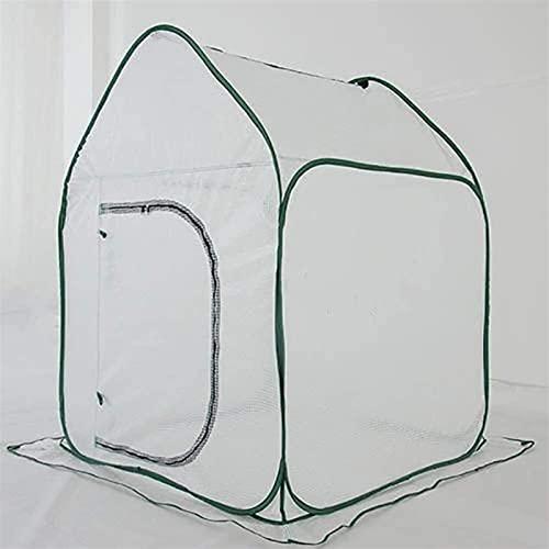 Serre de Jardin PE Plastique Tente abri Maison en plastique vert Mini serre d' intérieur à effet de serre pliant blanc PE Couverture, herbes for Seedlings Portable Outdoor Accueil maison de culture d