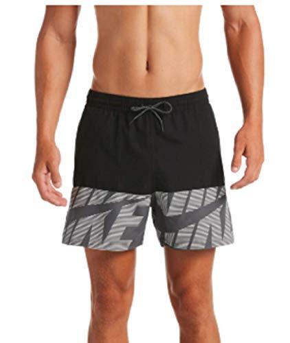 Nike 5 Volley Short Badehose für Herren L Schwarz