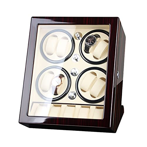 LSRRYD 8+5 Cajas Giratorias para Relojes Caja Relojes Automaticos Caja De Relojes Mecánicos Caja Bobinadora, Motor Silencioso,Almohadillas De Reloj Ajustables,Apariencia De Pintura De Piano