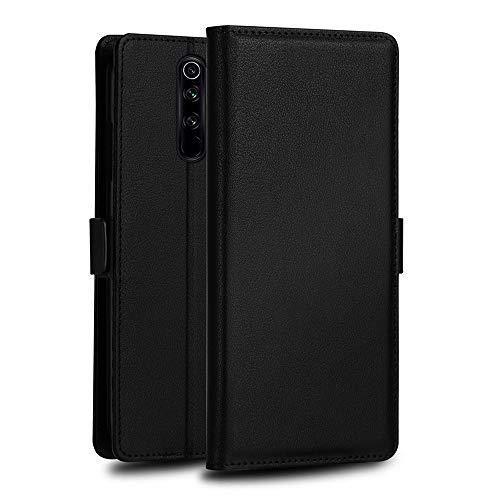 H-HX Hülle Für Xiaomi Redmi Hinweis 8 Pro Milo Serie PC + PU Horizontal-Schlag-Leder-Kasten mit Halter & Karten-Slot & Wallet (Black) (Color : Black)