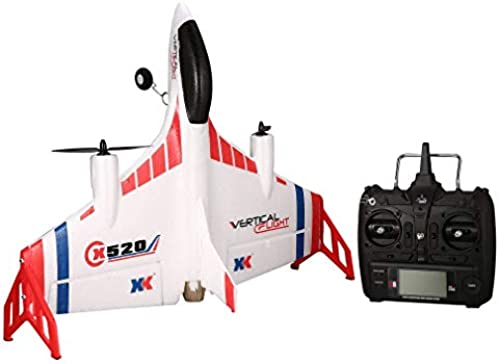 leoboone XK X520 6CH 3D 6G Airplane VTOL Grünical Takeoff Land Delta Wing RC Drone Fixed Wing Plane Toy with Mode Switch LED Light