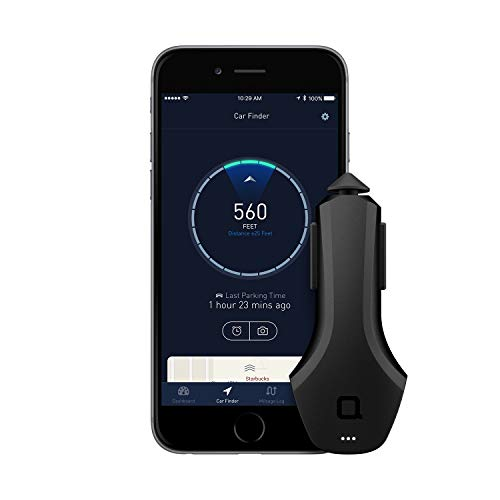 nonda ZUS Smart Car Charger, Car Charger with App to Save Car's Location and Monitor Car Battery, 2 Ports Car Charger with Led for iPhone XS/Max/XR/X/8/7/6/Plus (ZU33BKRN)