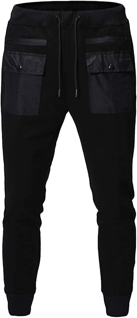 Poundy Men's Cargo Pants Slim Fit Casual Jogger Pant Trousers Sweatpants