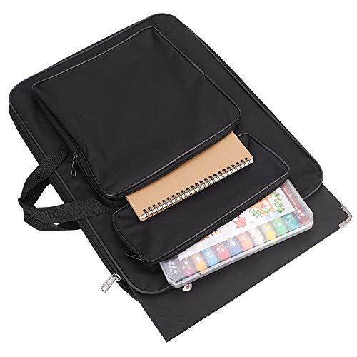 Art Portfolio Case A3 Artist Drawing Board Bag Waterproof Art Carrying Bag Portable Sketch Pad Storage Bag Artist Folder Case Tote Bag Shoulder Bag for Palette Paints Brushes Pencils
