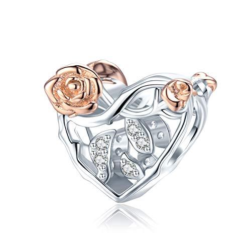 Abalorio de plata de ley para pulsera Pandora, diseño de corazón y autismo, de la bandera de Estados Unidos, para pulseras de San Valentín, Día de la Madre