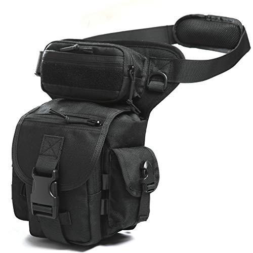 ANTARCTICA Multifunctional Drop Leg Bag Tactical Military Thigh Hip for Motorcycling Hiking Traveling Fishing (Black)