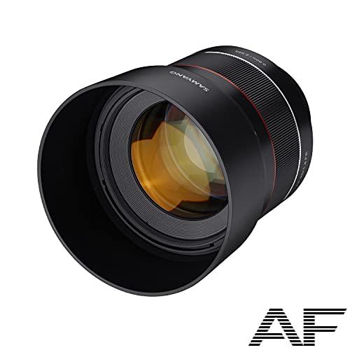 Samyang AF 85mm F1.4 E für Sony E/FE I leichtes & kompaktes Tele-Objektiv für Portrait-Aufnahmen, mit schnellem DSLM Autofokus I Festbrennweite für spiegellose Sony E Mount & FE Mount Kameras