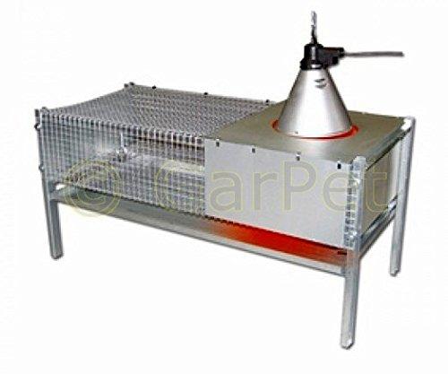 GarPet Küken Aufzucht Wärme Box Heim Metall Aufzuchtbox 100x50x50 für 50-60 Küken