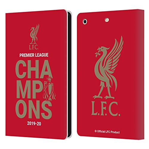 Official Liverpool Football Club Red Typography 2020 Champions PU Leather Book Wallet Case Cover Compatible For Apple iPad mini 1 / mini 2 / mini 3