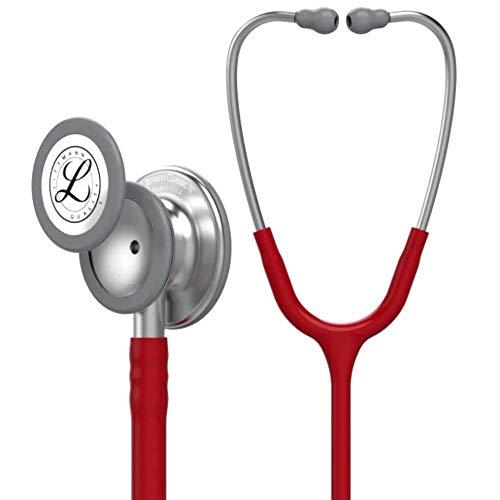 3M Littmann Stetoscopio per il Monitoraggio Classic III, Tubo Auricolare Bordeaux, 69 cm, 5627