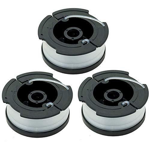 "LBK 0.065"" Spool for BLACK+DECKER String Trimmers (Replacement Autofeed Spool), compatible with BLACK+DECKER AF-100,3-Pack"