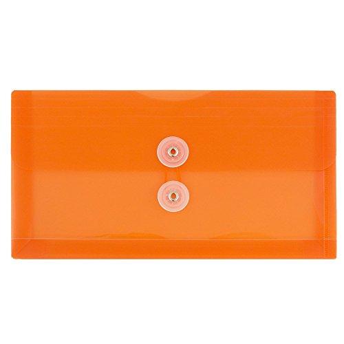 プラスチックボタンと紐付き封筒。