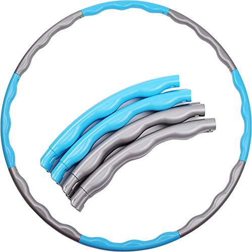 Nicole Knupfer Hula Hoop Reifen für Fitnesstraining Abnehmen - Fitnessreifen für Erwachsene - Fitness Bauchtrainer (Blau)