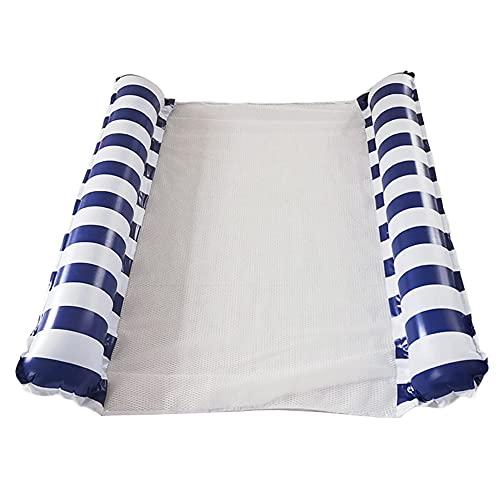 DALADA Cama flotadora doble, colchoneta hinchable flotante, silla flotante con cabeza y pies para divertirse en la piscina, el mar
