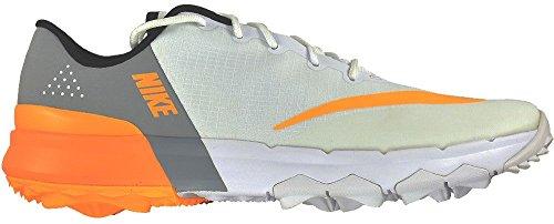 Nike Golf- Ladies FI Flex Spikeless Shoes White/Laser Orange-Wolf Grey Size 6 Medium