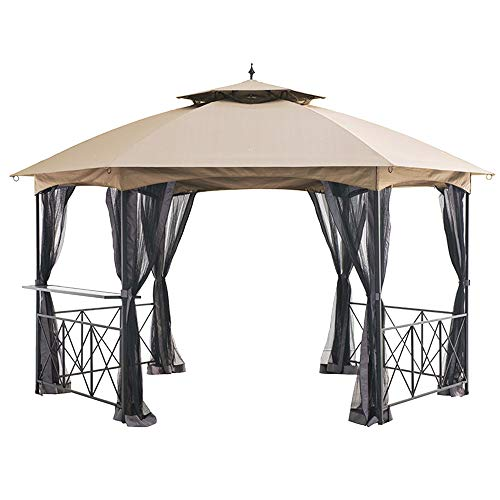 Garden Winds Replacement Canopy Top Cover for The Genoa Hexagon Gazebo - RipLock 350