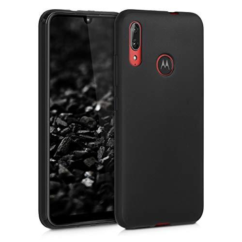 kwmobile Hülle kompatibel mit Motorola Moto E6 Plus - Hülle Handyhülle - Handy Hülle in Schwarz matt