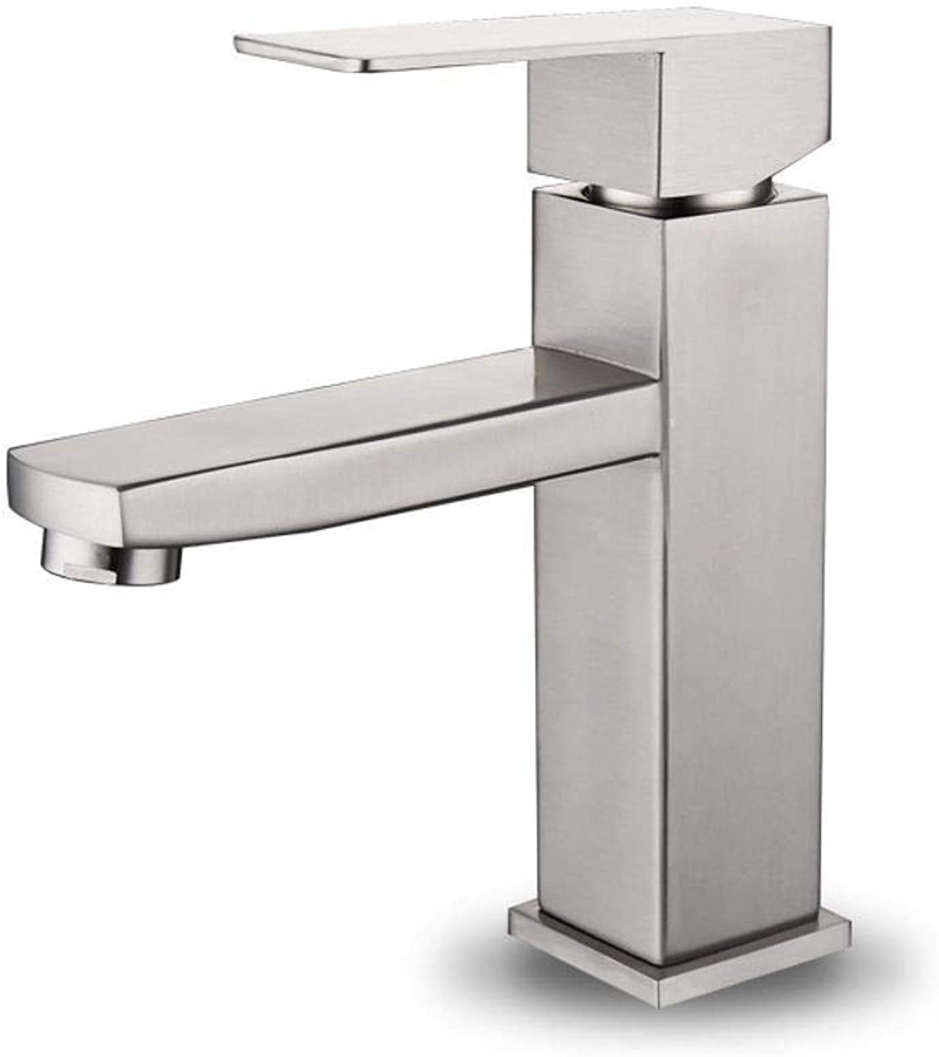 Qpw Sink Faucet Stainless Steel Square hot and Cold Basin Faucet Low Waist high Waist wash Basin Drawing