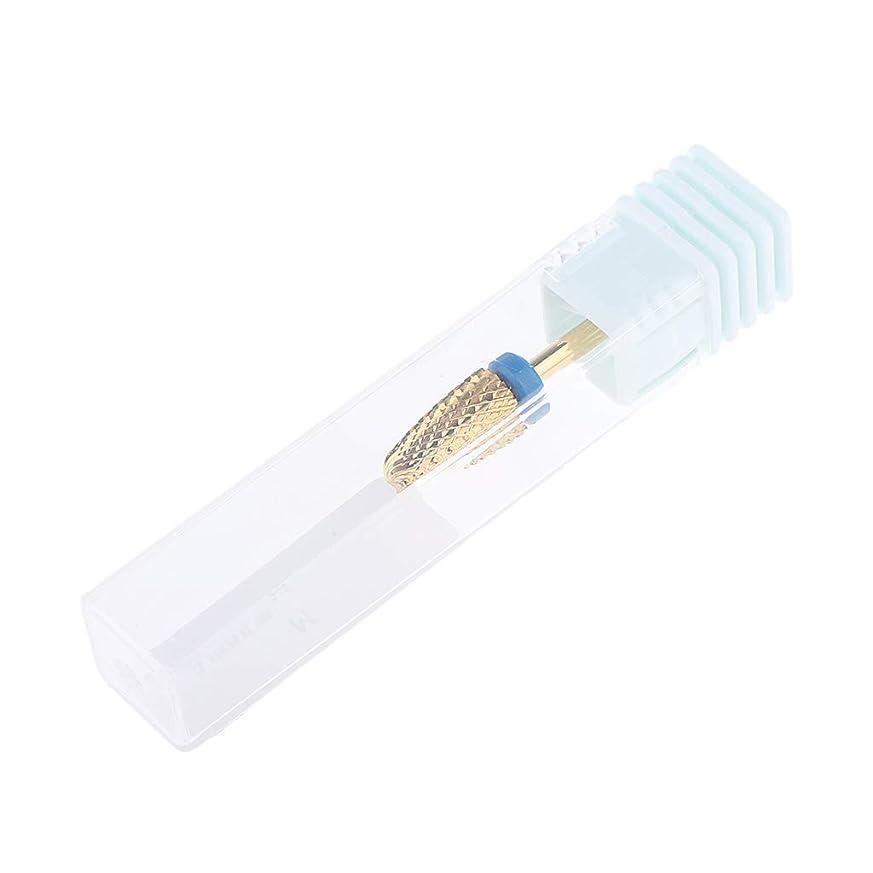 チャンバーすべきダースF Fityle 3色 ネイルドリルビット 合金 ネイル ドリルビット ネイルチップ 研削ヘッド 3サイズ選べ - 青