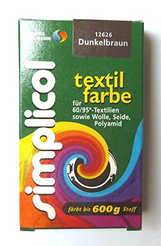 Simplicol  Restposten Textilfarbe 25g Dunkelbraun von Brauns-Heitmann 19,96€/100g