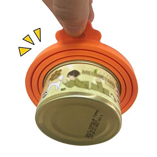 Dosendeckel für Tierfutter, Lebensmittelechtes Silikon Deckel für Hunde & Katzen Dosenfutter [ BPA Frei & FDA-Zulassung ] 3in1 Passform Futterdosen Deckel Tierfutter Passt Auf Fast alle Futterdosen