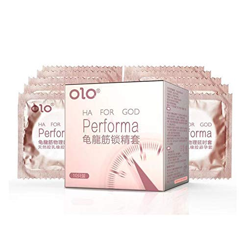QLGRXWL Condón,Condones De Tacto Fino De Látex Natural, Lubricación De Larga Duración, Tacto Fino Y Seguro con Partículas Naturales,Juego De Condones