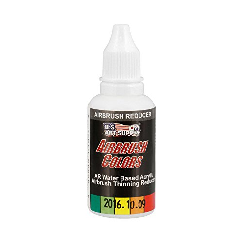 US Art Supply Airbrush Thinning Reducer and Extender Base, 4 Ounce. Bottle for All Acrylic Paints