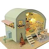 UR MAX BEAUTY Bricolage Maison De Poupée Poupée en Bois Maisons Miniature Dollhouse Kit Mobilier Jouets pour Enfants Poupée Temps Cadeau Voyage Maisons