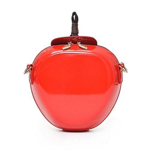 Subfamily® Frauen Mode Apfel Handtasche Reißverschluss Tasche Schultertasche Shopper Damen Kuriertasche tragbar und praktisch