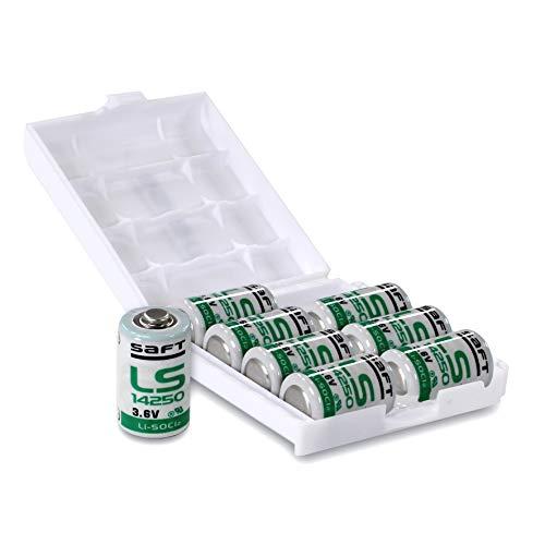 Saft LS14250 1/2 AA 3,6V Li-SOCl2 Batterie in wiederverschließbarer 8er-Box von Weiss - More Power +