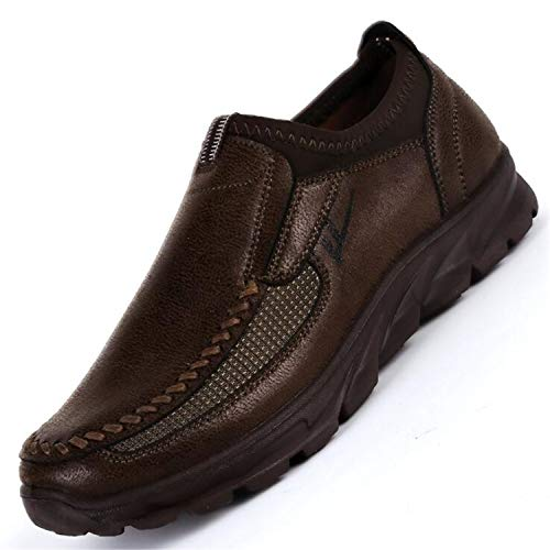 Casual Shoes Lightweight Breathable Sneakers Male Walking Shoes Footwear 38-48 Brown 9.5