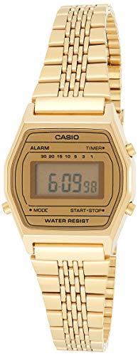 Casio Reloj Digital para Mujer de Cuarzo con Correa en Acero Inoxidable LA690WEGA-9EF