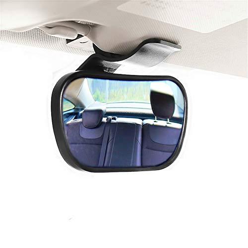 Belleashy Baby-Auto-Spiegel Baby-Auto-Spiegel Ruhe halten EIN Auge auf Baby in einem nach hinten gerichteten Kindersitz (Color : Black, Size : 8.8x5.7x6.5cm)