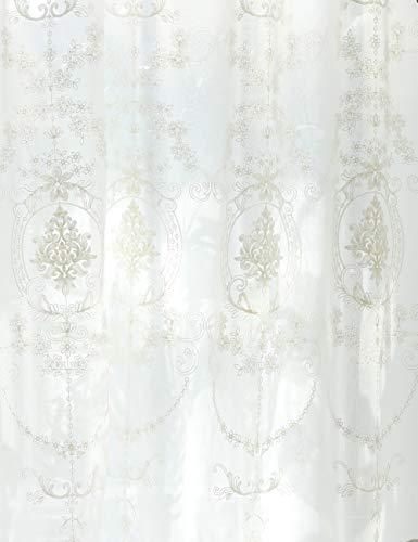 Lactraum Rideaux de salon avec œillets - Blanc transparent - Brodé - Vintage - Voile classique (normal) - 200 x 245 cm