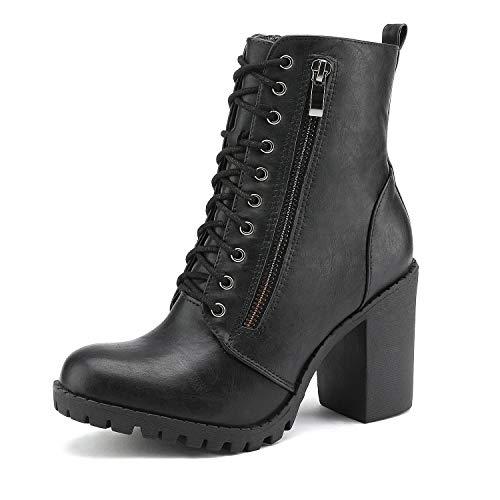 DREAM PAIRS Women's Black Chunky Heel Ankle Booties Size 11 B(M) US Sliverado